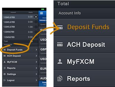 FXCM - Trading Station Mobile - Nav - Deposit