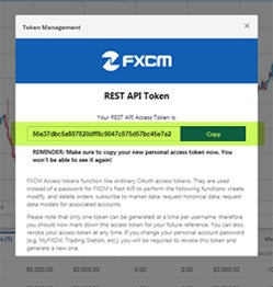 FXCM - Python REST API login